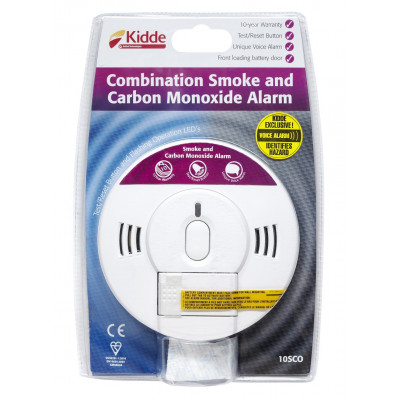 Kidde - Battery Smoke & Carbon Monoxide Alarm 10yr Sensor Life