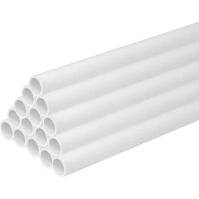 PVC Round Conduit Light Gauge 20mm  x 3m White - Pack of 30