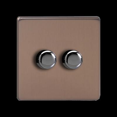 LED Dimmer Switches - Varilight Brushed Bronze