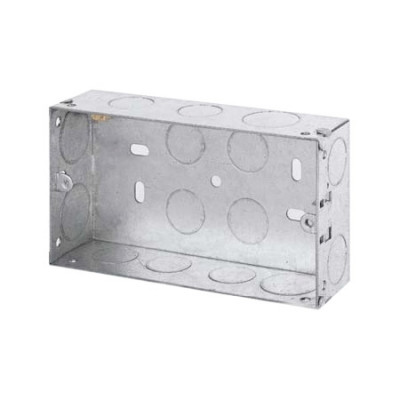25mm, 35mm & 47mm Double Metal Back Boxes