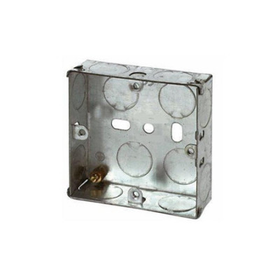 16mm, 25mm, 35mm & 47mm Single Metal Back Boxes