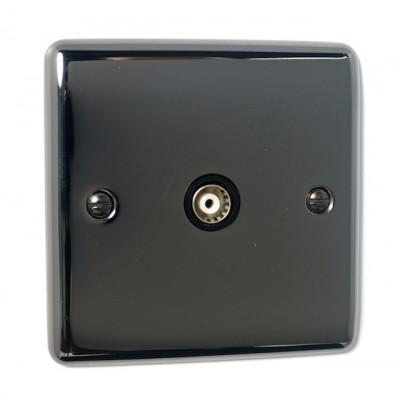 TV & Satellite Outlets - Definition Black Nickel