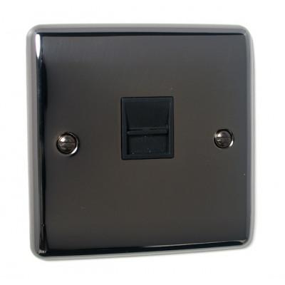 Telephone & RJ45 Outlets - Definition Black Nickel