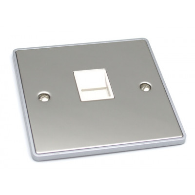 Telephone & RJ45 Outlets - Urban Edge Polished Chrome