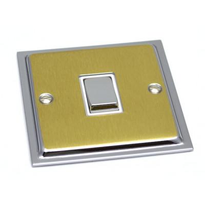 Light Switches - Ultra Slim Polished Chrome & Satin Brass