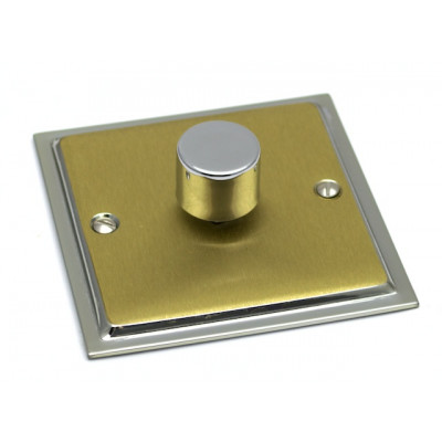 Dimmer Switches - Ultra Slim Polished Chrome and Satin Brass