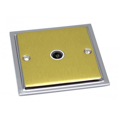 TV & Satellite Outlets - Ultra Slim Polished Chrome and Satin Brass