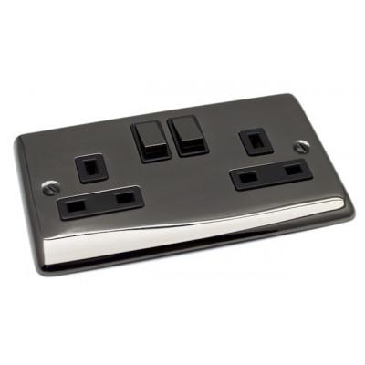 Plug Sockets - Definition Black Nickel