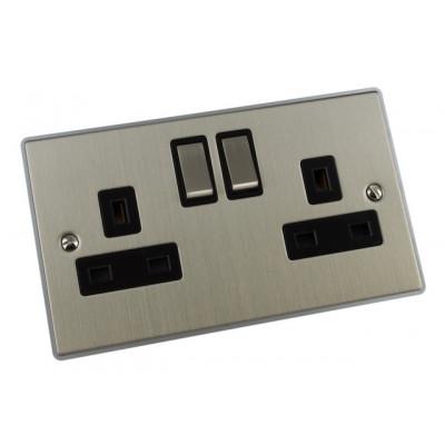 Plug Sockets - Urban Edge Brushed Chrome