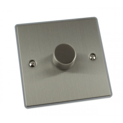 Dimmer Switches - Urban Edge Brushed Chrome