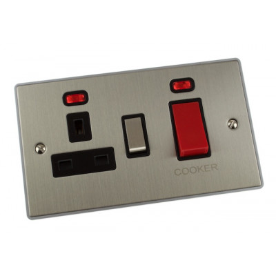 Cooker Switches - Urban Edge Brushed Chrome