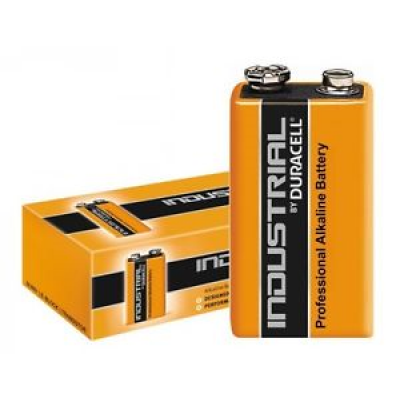 Duracell Industrial 9V Alkaline Batteries - Pack of 10