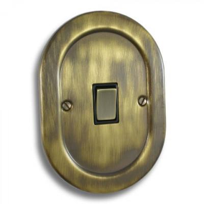 Light Switches - Empire Round Antique Brass