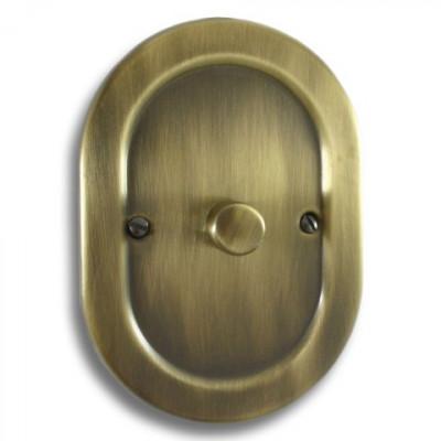 Dimmer Switches - Empire Round Antique Brass