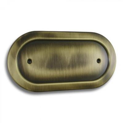 Blanks & Shaver Socket - Empire Round Antique Brass