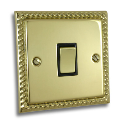 Light Switches - Georgian Polished Brass