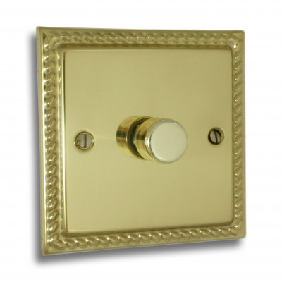 Dimmer Switches - Georgian Polished Brass