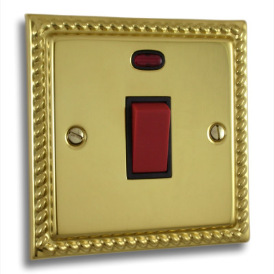 Cooker Switches - Georgian Polished Brass