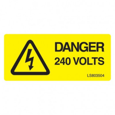 Danger 240 Volts - Pack of 10