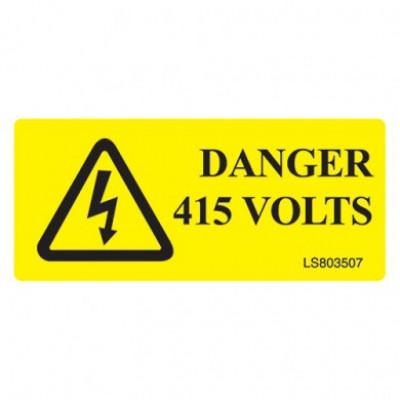 Danger-415-Volts-Safety-Label-Pack-Of-10-VUEP002