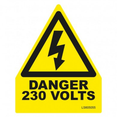 Triangle-Danger-230-Volts-Safety-Label-Pack-Of-10-VUEP006