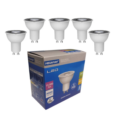 Megaman 5W LED GU10 Cool White 36° Pack Of 5