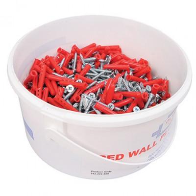 Red Wall Plugs & Screws - Trade Tub