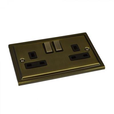 Plug Sockets -Regency Antique Brass