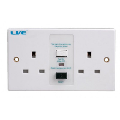 2-Gang-Unswitched-RCD-Socket-RSP213A/030