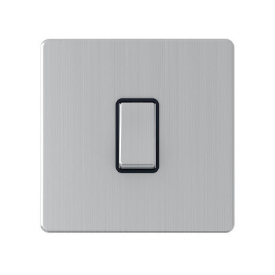 Light Switches - Screwless Brushed Chrome