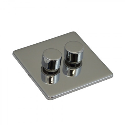 Dimmer Switches - Screwless Polished Chrome