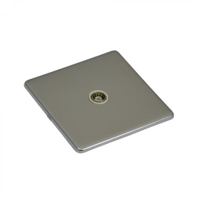 TV & Satellite Outlets - Screwless Polished Chrome