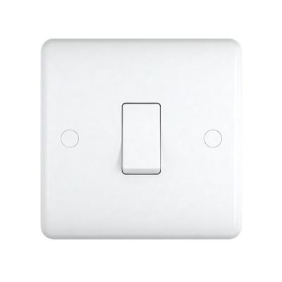 Light Switches - Studio White Plastic