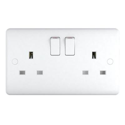 white plastic sockets