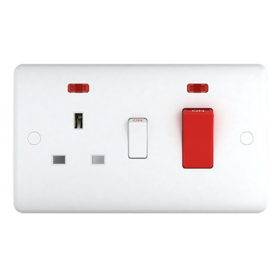 Cooker Switches - Studio White Plastic
