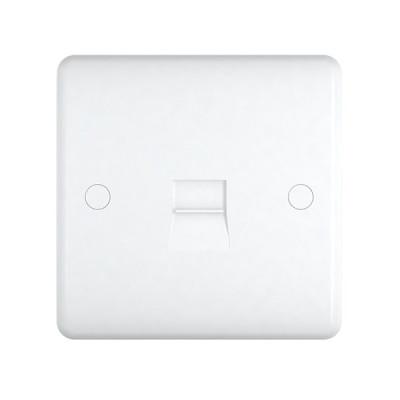 Telephone Outlets - Studio White Plastic