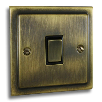 Light Switches - Victorian Antique Brass