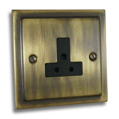 Un-Switched Sockets - Victorian Antique Brass