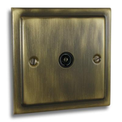 TV & Satellite Outlets - Victorian Antique Brass