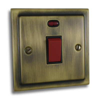 Cooker Switches - Victorian Antique Brass
