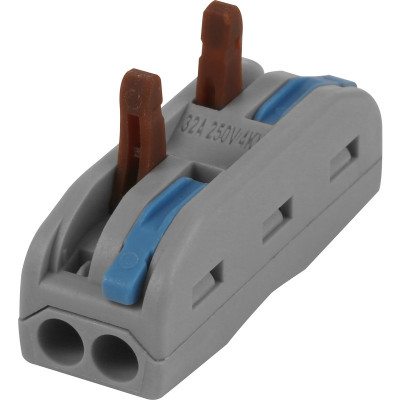 VUEP138 - 2 In 2 Out 32a Spring Lever Connectors (Pack of 10)
