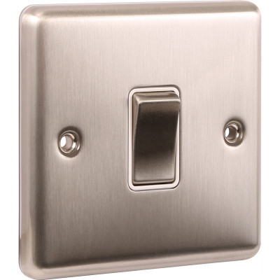 Light Switches - Windsor Brushed Steel