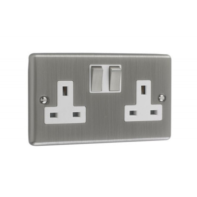 Plug Sockets - Windsor Brushed Chrome