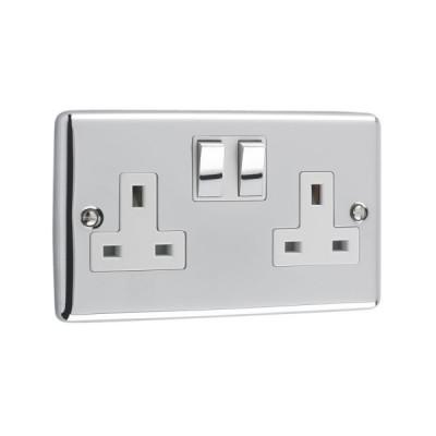 Plug Sockets - Windsor Polished Chrome