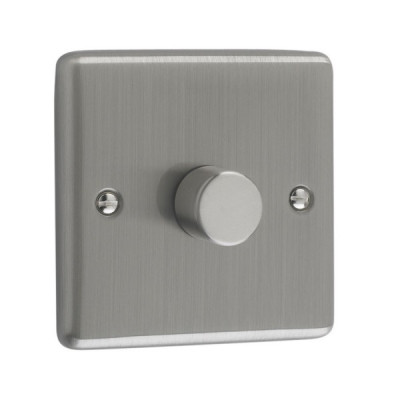 Dimmer Switches - Windsor Brushed Steel