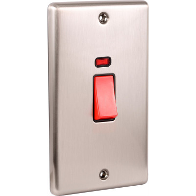 Cooker Switches - Windsor Brushed Steel