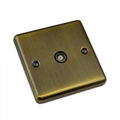 TV & Satellite Outlets - Windsor Antique Brass