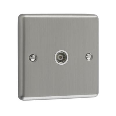 TV & Satellite Outlets - Windsor Brushed Chrome