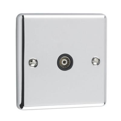 TV & Satellite Outlets - Windsor Polished Chrome