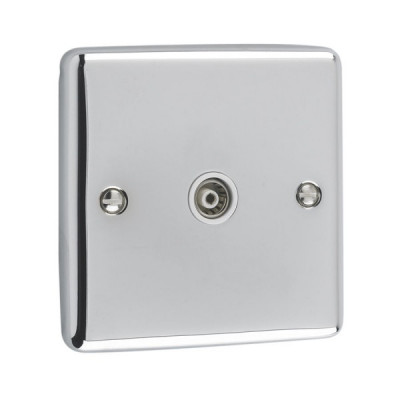 TV & Satellite Outlets - Windsor Polished Chrome